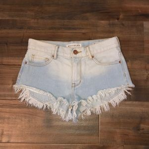 Distressed Short Shorts